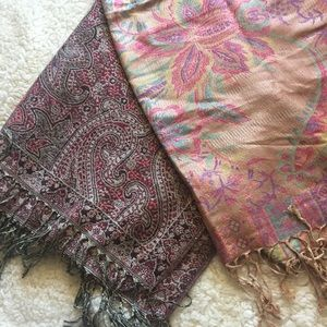 Floral and paisley scarf shawl sarong wrap bundle